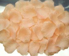 FREE SHIP 250 pcs Lt. Peach Rose Petals Wedding Bride Flower Girl Faux Silk
