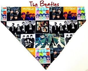 The Beatles Dog Bandana Over the Collar dog bandana Dog collar bandana Rock