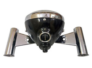 "Replica Lucas Head Light Lamp 7"" SSU700P With Brackets For Triumph Ariel AJS"