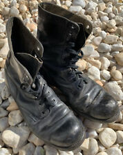Vintage 60s Men Military Boots BF Goodrich 1963 Black Lace Up Size 11