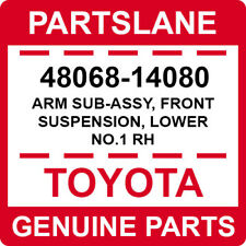 48068-14080 Toyota OEM Genuine ARM SUB-ASSY, FRONT SUSPENSION, LOWER NO.1 RH