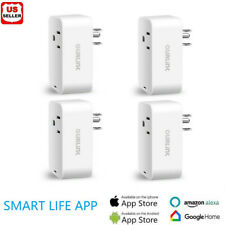 4Pack Smart Plug Wifi Switch Wireless Socket Outlet Voice Control For Alexa Echo