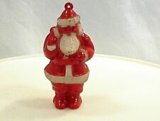 """VINTAGE SANTA CLAUS ST NICK CHRISTMAS TREE ORNAMENT 3"""" RED SUIT HOLIDAY"""