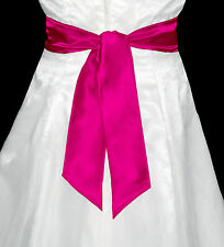 "3""x58"" SATIN Fancy Dress Party Wedding Ribbon SASH Tie Belt Bow Band Bridesmaid"