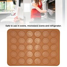 HOT 30 Baking Silicone Macaroon Tray Non Stick Mould Cavities Macaron Sheet Mat
