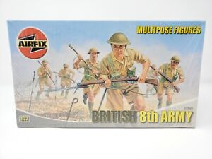 Airfix British 8th Army Multipose Figures 1:32 Scale FACTORY SEALED Model Kit
