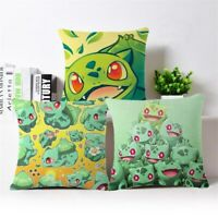 "Home Sofa Decor Bulbasaur Cotton Linen Throw Pillow Case Cushion Cover Square18"""