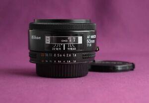 Nikon AF Nikkor 50mm f1.8  MADE IN JAPAN SUPERB 2179E