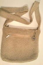 The SAK Original Knit PURSE Shoulder Bag Ivory Ecru Beige Fashion Accessory