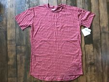 LuLaRoe Red Striped Patric T Shirt Size Medium