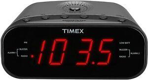 Timex AM/FM Clock Radio Digital Tuning MP3 Line T231GY New in Box FREE SHIPPING