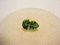 Peridot Pear Cut Gemstone 6 mm x 4 mm 0.50 Carat Natural Gem