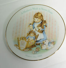 """Avon Mother's Day 1988 - 5 1/4"""" Decorative Plate A Mother's Work is Never Done"""