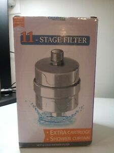 Captain Eco Universal 11 Stage Filter +Extra Filter+Shower Curtain New in Box