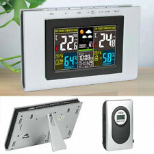 Weather Station Alarm Clock Wireless Sensor Color Forecast Temperature Humidity