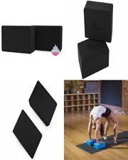 Prosource Fit Foam Yoga Blocks Set of 2, High Density EVA Bricks, Black
