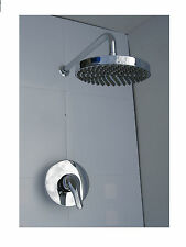 CONCEALED SHOWER MIXER TAP VALVE, RAIN HEAD & ARM SET, ALL METAL & CHROME, 003