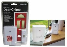 UNI-COM PORTABLE WIRELESS DOOR BELL CHIME - 8 SELECTABLE CHIMES