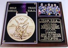2012 Olympic Womens Gymnastics All Around Gold Medal Team USA Photo Plaque Fab 5