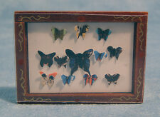 Dolls House Butterflies in a Wooden Frame  12th scale