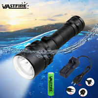 Underwater 100m 5000LM T6 LED Diving Scuba Flashlight Torch Lights 18650 Lamp