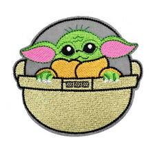 1 Écusson Thermocollant NEUF ( Patch ) - Star wars Mandalorian Bébé Yoda (B)