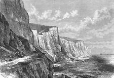 KENT. Cliffs E of Dover c1885 old antique vintage print picture