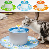 US Automatic Flower Pet Fountain Free Water Dispenser Drinking Bowl for Cat Dog