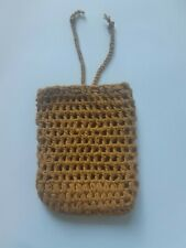 100 % Cotton Soft Brown Soap Holder and Scrub Hand Made Clean Skin Face Body