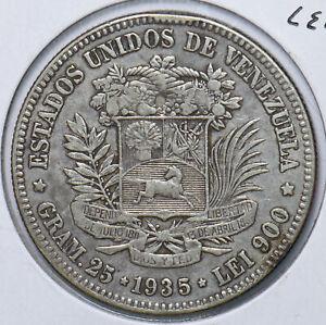 Venezuela 1935 5 Bolivares Horse animal 490526 combine