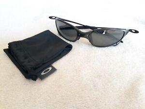 Oakley X Metal Juliet Carbon Sunglasses - Black Iridium Polarized - VERY NICE