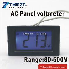Écran lcd voltage meter voltmètre gamme ac 80-500V écran bleu backligh