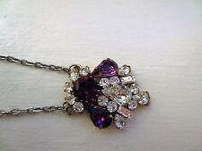 Vintage Lavaliere Amethyst Purple Pendant from Canada Breathtaking Teardrops