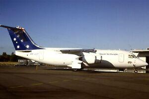 Original 35mm Colour Slide of Ansett Air Freight BAe 146-200QT VH-JJZ