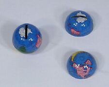 "* Vintage Metal Penny Coin Piggy Bank Mini World Globe for Dimes 1.3"" NOS"