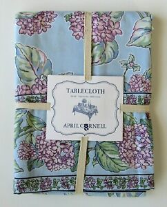 """APRIL CORNELL SPRING EASTER FLORAL COTTON TABLECLOTH OBLONG 60"""" x 84"""" BRAND"""