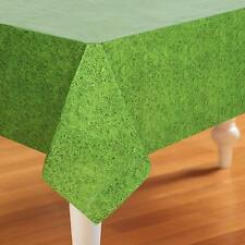 Green Grass Look Tablecover/Boys Party/Soccer Party / Creeper Party Supplies