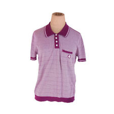 Louis Vuitton Polo shirt Purple White Woman Authentic Used E1211