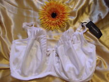 Charnos Sienna 1295010 white u/w parital embroidered full cup bra 38H BNWT
