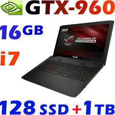 "ASUS G771JW ROG 17.3"" FHD i7-4750HQ 16GB 128GB SSD+1TB GTX960-4G Gaming Laptop"