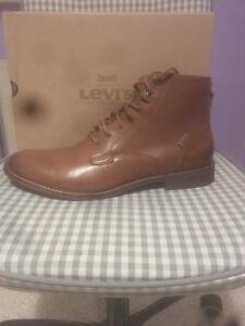 Levis Baldwin Herrenstiefel Boots Braun Leder Gr:45 Neu In Karton