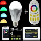 Milight 2.4G Wifi controller IBOX E27 9W RGBW RGB + White led Bulb 4 Zone remote