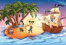 Piraten Insel Piratenboot Kinderfahne Fahne Flagge 1,50x0,90m Baumhaus