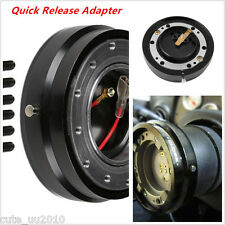 Universal Black Thin Version Racing Quick Release Adapter Steering Car Boss Kits