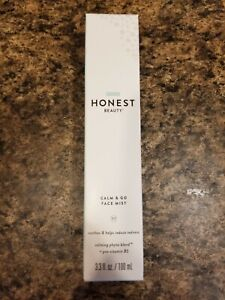 Honest Beauty Calm & Go Face Mist 100ml NIB Soothes & Helps Reduce Redness