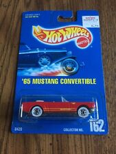 '65 FORD MUSTANG CONVERTIBLE RED #162 HOT WHEELS NEW 1991 B172