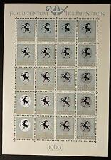 Sello LIECHTENSTEIN Stamp Yvert y Tellier nº464 x20 De Hecho De La Hoja N Y5
