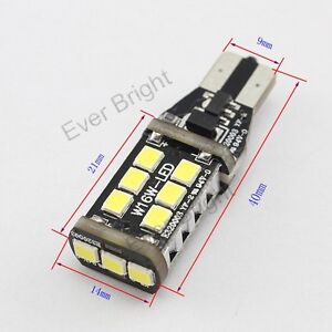 10Pcs 12V 24V T10 T15 W16W 194 168 2835 15SMD Led Light Bulbs Nonpolarity White