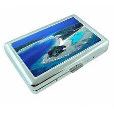Fiji Islands D9 Silver Metal Cigarette Case RFID Protection Wallet Tropical