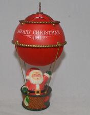 Hallmark Santa In Balloon Ornament Merry Christmas 1981